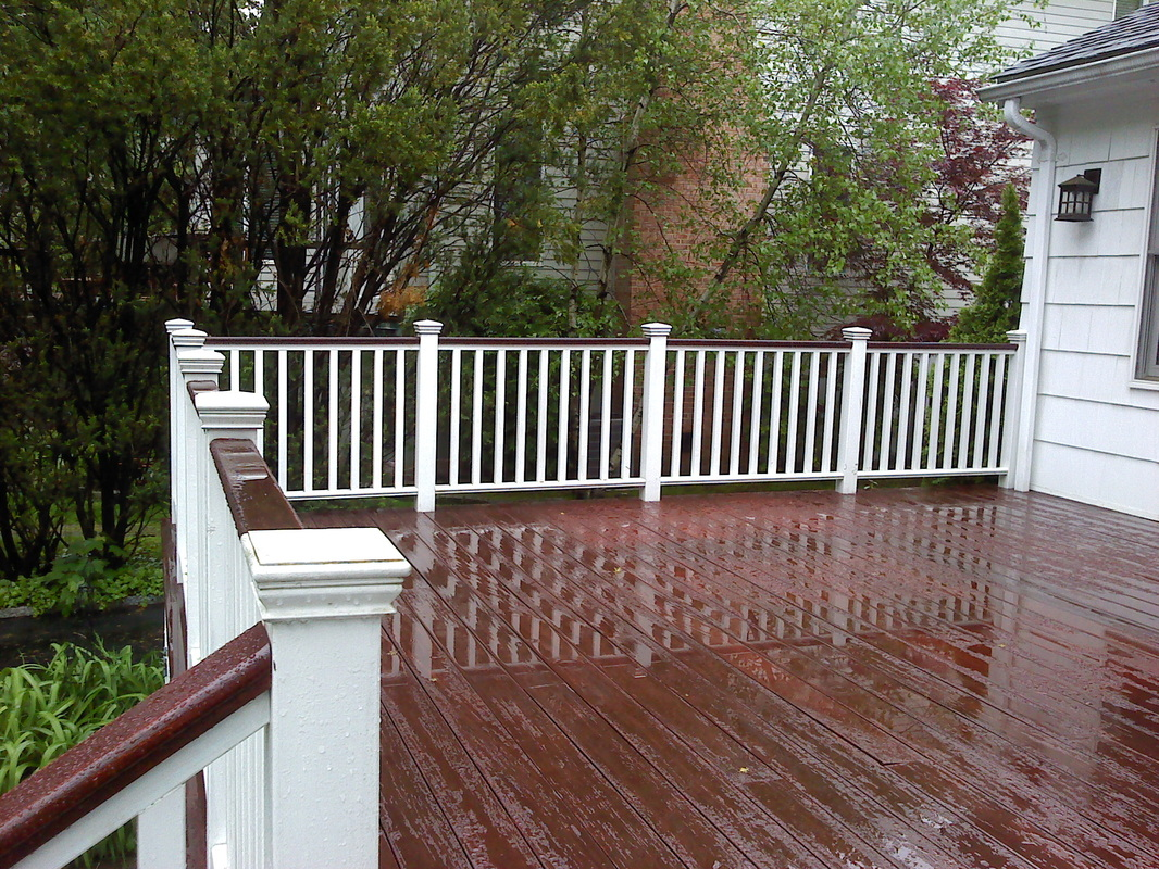 Decking materials trex decking materials complaints for Composite deck railing